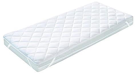 Aminata – kochfeste Matratzenauflage 140x200 cm aus 100% Mikrofaser mit Eckgummis  für Allergiker geeignet  Matratzenschoner atmungsaktiv waschbar Sommer Winter Topper Matratzenschutz Unterbett