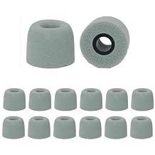 Earphones Plus Ersatz-Kopfhörer-Kissen, Groß, mit Memory-Schaumstoff, Grau, 6 Stück