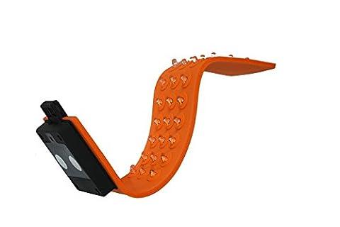 Arbeitsleuchte wasserdicht Silikon LED Taschenlampe mit 30 LEDs Magnet verwendbar zusätzlich als als Warnbänder, Sicherheitsbänder für Autopanne (Hinten Werkzeugkasten)