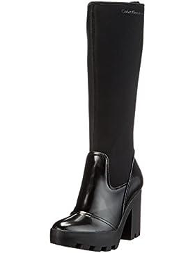 Calvin Klein Damen Sintra Neoprene/Box Smooth Stiefel