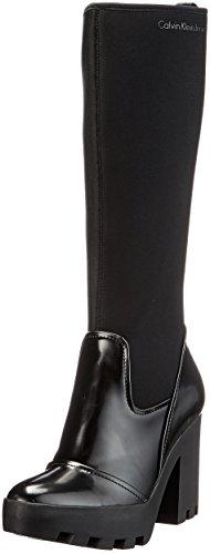 Calvin Klein Jeans Sintra Neoprene/Box Smooth, Stivali Alti Donna, Nero (Black 000), 40 EU