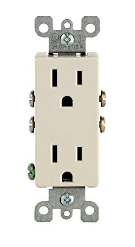 Leviton 15-amp, 125-volt, Datenbuchse Duplex Decora, Erdung, beige, 5325-TMP, 120 voltsV (Leviton Duplex)