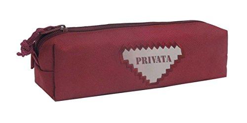 Estuche portatodo cuadrado privata rojo