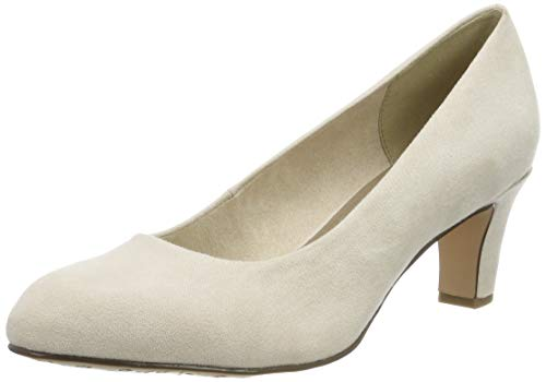Tamaris Damen 1-1-22418-23 418 Pumps, Beige (IVORY 418), 37 EU