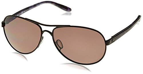 Oakley Damen Feedback Sonnenbrille, Schwarz (Polished Black), 59