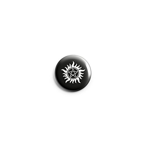Supernatural Pentagramm Dämonen-Schutz Button Pin Anstecker, 38 mm