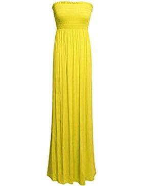 Janisramone donne più il formato sheering boobtube lungo Jersey maxi formato del vestito 8-26