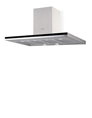 Nodor Mirage Premium 1200 black Wandhaube / 120,0 cm/Eco-LED Beleuchtung mit Dimmfunktion/edelstahl/schwarz