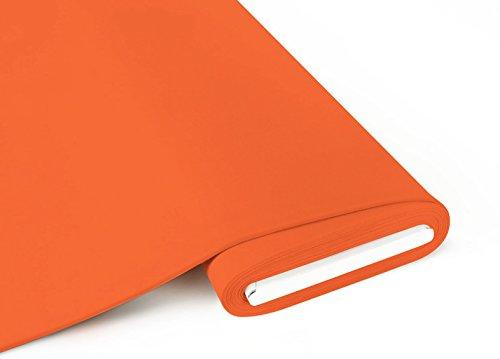 Qualitativ hochwertiger, unifarbener Bio Jersey Stoff in Apricot / hellem Orange als Meterware mit Öko-Tex Zertifizierung zum kreativen Nähen von Kinder- und Erwachsen Kleidung, 50 cm