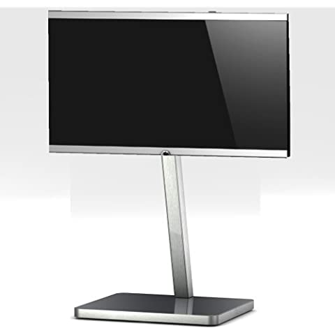 SONOROUS 2700 Grigio PL-Diametro dello zoccolo di TV. Alto 92 cms. Base di vetro Grigio/telaio in alluminio