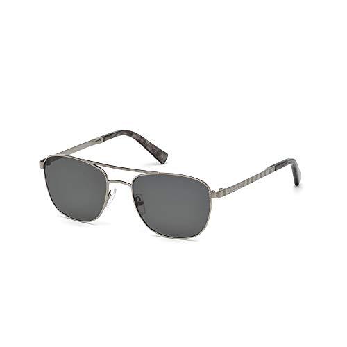 Ermenegildo zegna ez0071-14a-silber occhiali da sole, argento (silber), 55.0 uomo