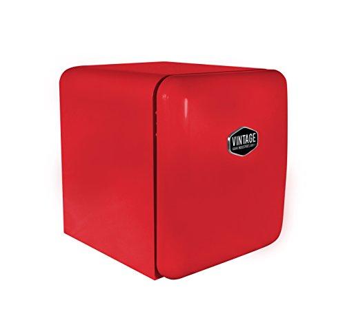 Vintage Industries ~ Mini Retro-Kühlschrank Miami 2018 in rot | Mini-Bar 50er Jahre Look | Größe: 50cm & 48l Volumen | höhenverstellbarer Tisch-Kühlschrank mit manueller Temperatureinstellung