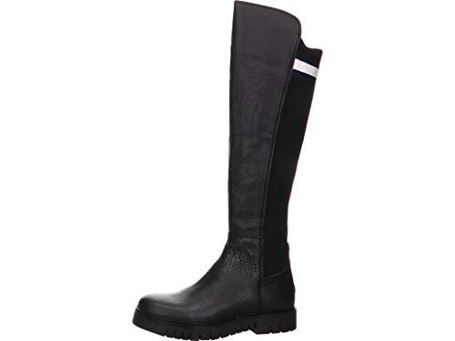 Tommy Hilfiger Damen Flag Sock Tommy Jeans Boot Hohe Stiefel, Schwarz (Black 990), 41 EU