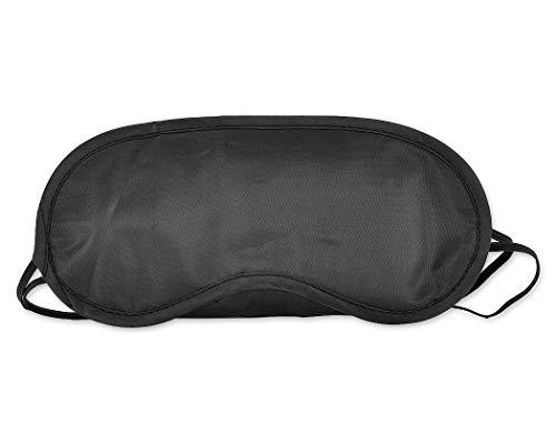 SCSpecial Schlafmaske für Männer und Frauen, mit 2 elastischen Bändern, Schwarz, 10 Stück