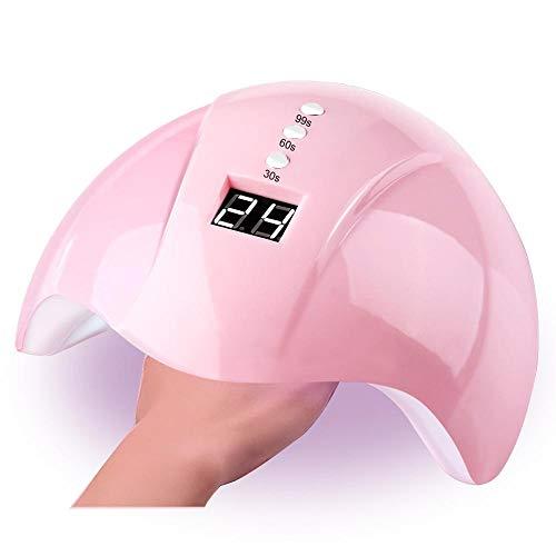 Geggur UV Nagellampe,36W LED UV Nageltrockner Mit 3 Timern Professionelles Nagelkunstwerkzeugzubehör für Gel-Nagellack,UV Lampe für Nagel -