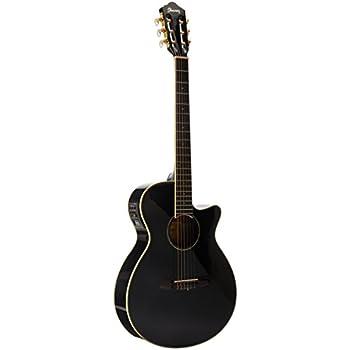 ibanez electric acoustic guitar black musical instruments. Black Bedroom Furniture Sets. Home Design Ideas