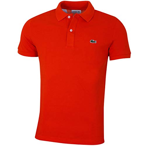 Lacoste PH4012 Herren Polo Shirt Kurzarm,Männer Polo-Hemd,2 Knopf,Slim Fit,Casual(X50),Medium (4) - Vier-knopf-kurzarm-polo-shirt