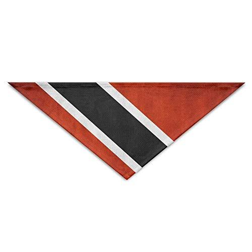 JMAKI Hundehalsbänder Hunde Halstuch,Vintage Flag of Trinidad and Tobago Triangle Pet Scarf Dog Bandana Pet Collars,Soft Head Scarfs Accessories Pet bib Pet Supplies