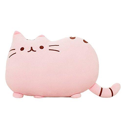 Deko-Kissen, Katzenform, für Sofa, Plüsch, Deko, Stofftier, 38cm, 1 Stück, Pink