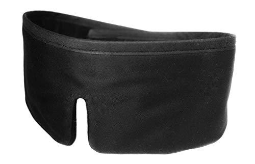FEDANO Schlafmaske DreamKeeper - Hochwertig in elegantem Schwarz mit ökotex-zertifizierter Bio-Baumwolle - Durch innovatives Design geeignet für Männer und Frauen (Schwarz) -