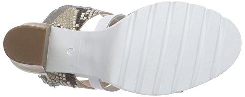 BULLBOXER 833E2L002 Damen Offene Sandalen mit Blockabsatz Weiß (WHIT)
