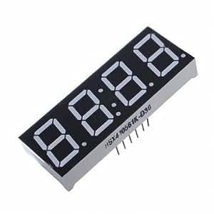 1 pcs 7 segments 4 chiffres affichage de LED super-rouge temps anode commune