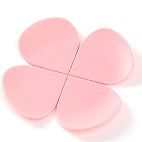 Set of 6 Flower Shape Non-Slip Waterproof Silicone Round Table Coasters Pink