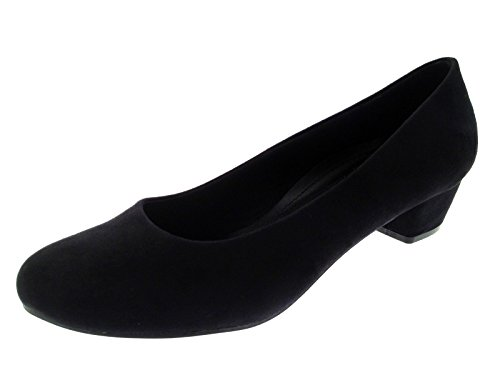 Womens Slip On Low Block Heels Comfort Work Office Loafer Court Shoes...