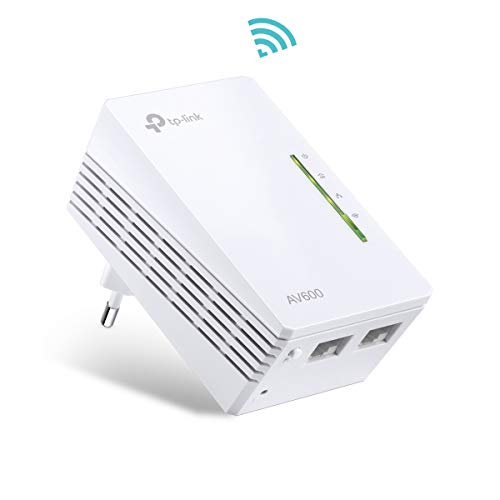 TP-Link TL-WPA4220 AV600 WLAN N300 WiFi Powerline (max. 600Mbit/s Powerline, max. 300Mbit/s WLAN 2,4GHz, Plug & Play, kompatibel zu allen Powerline Adaptern, 1-Teilig) weiß