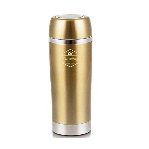 Voiture électrique bouilloire 350 ml 12 v voiture intelligente portable bouilloire électrique noir or en acier inoxydable sac isotherme ( Color : Gold )