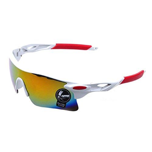 hodsgon Polarisierte Sportbrille Sonnenbrille Fahrradbrille mit UV400 Schutz für Damen und Herren Autofahren Laufen Radfahren Angeln Golf TR90 (RubberBlack/Blue) IU68O1LIU