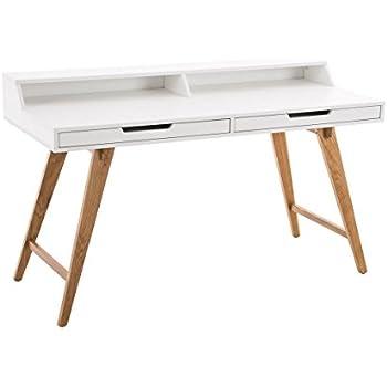 clp schreibtisch eaton aus mdf eichenholz 2 schubladen. Black Bedroom Furniture Sets. Home Design Ideas
