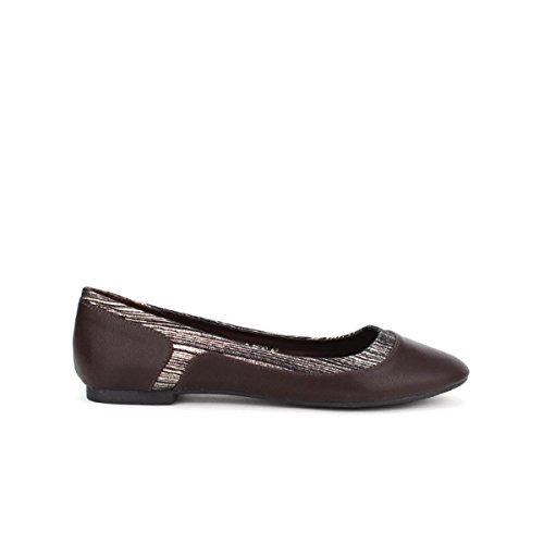 Cendriyon, Ballerine Marron BELLICY Chaussures Femme Marron