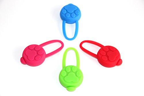 PRECORN LED Leuchtanhänger Silikon Leuchthalsband Led Hundehalsband in grün - 6