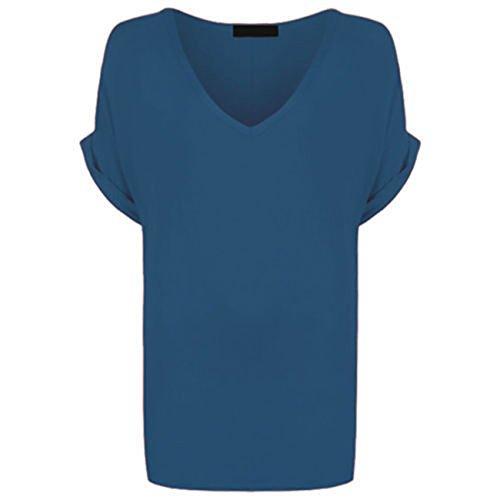 Re Tech UK Damen T-Shirt Blaugrün