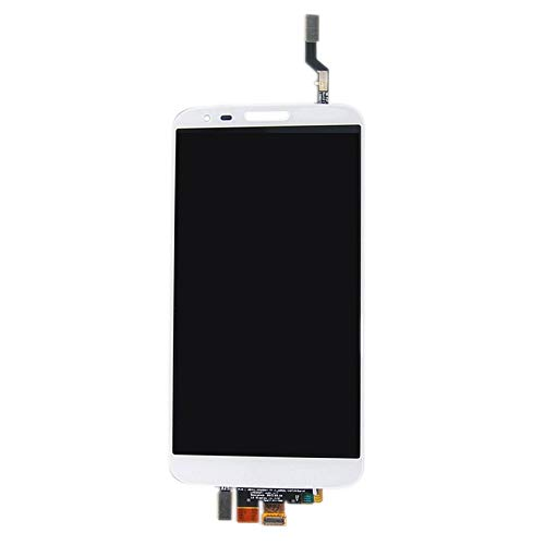 Phone Screen Glas LCD Touchscreen Display Digitizer Assembly Reparatur Teil Ersatz Rahmen Kompatibel LG G2 / D800 D801 D803 F320 (Weiß) (Ersatz Lg G2 Glas)