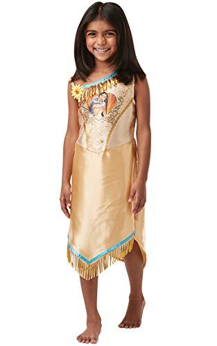 Rubie's 640827M Offizielles Disney Prinzessin Pailletten Pocahontas Klassisches Kostüm, Kindergröße S 5-6 Jahre, Höhe 116 cm, Mädchen, - Disney Offizielle Kostüm