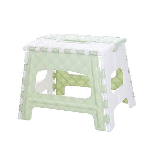 TPulling Klapphocker aus Kunststoff viele Maße Klapptritt Klapphocker Faltbarer Tritt Hocker Tragbarer Klappstuhl (Grün, Einheitsgröße)