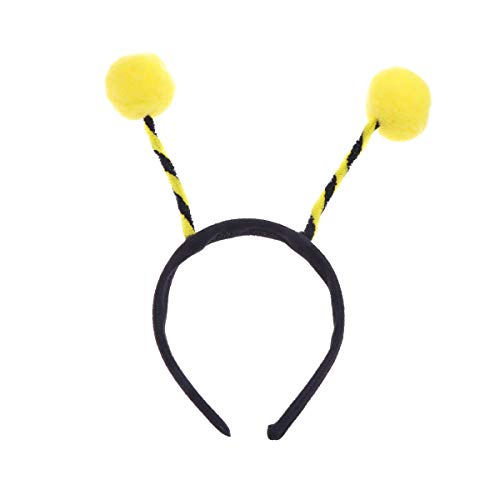 Biene Stück 5 Kostüm - Amosfun 5 stücke Biene Stirnband Biene Haarband Kopfschmuck Biene Headwear Haarband Party für Kinder Kleinkinder Haarschmuck Halloween Kinder Cosplay Party Gelb