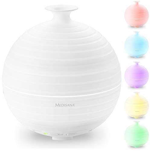 Medisana AD 620 Difusor de aromas, nebulizador con luz de bienestar en 5 colores, lámpara de fragancia...