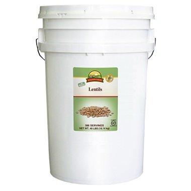 Augason Farms Lentils - 40 lb. Pail 383 - 1/4 Cup Servings by Augason Farms