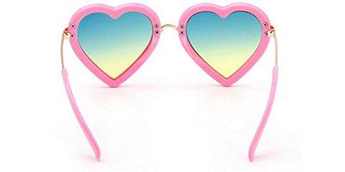 Cosanter Herz Kinder UV400 Sonnenbrillen für Jungen und Mädchen Alter 3-10