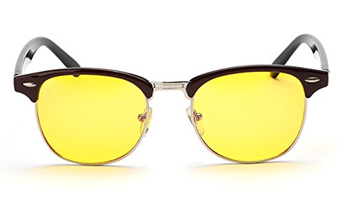 E-Bestar Occhiali da riposo per protezione degli occhi prevenzione da stanchezza Anti-ray luce blu del computer (Castano Scuro)