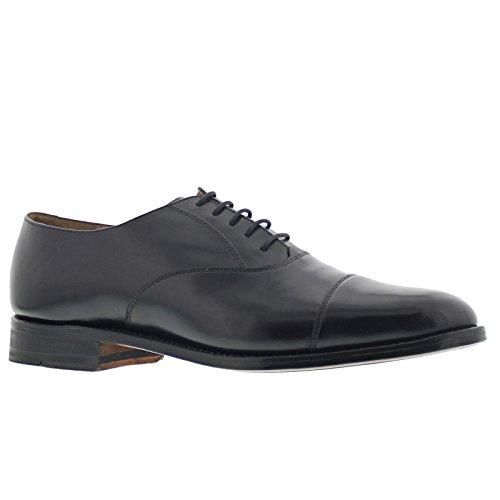 Barker Mens Luton Black Leather Shoes 7.5 UK