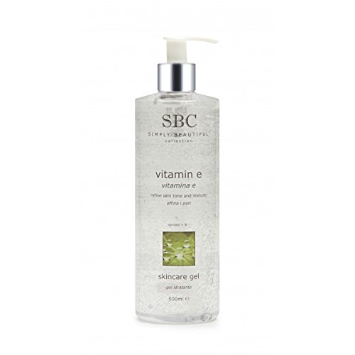 SBC Vitamin E Skin Care Moisturiser Gel, 500ml pump dispenser by SBC