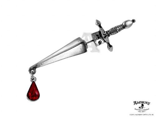 GothicJewels - Orecchino singolo Alchemy con Swarovski: Cesare's Veto