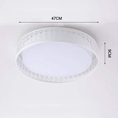 BBCX Leuchter führte energiesparende Deckenleuchte, einfache kreative kreisförmige Schlafzimmer-Raum-Balkon-Decke, warme Moderne Art-Studie-Esszimmer-Wohnzimmer-Beleuchtung, dreifarbiges Licht,C (Art Raum Decke)