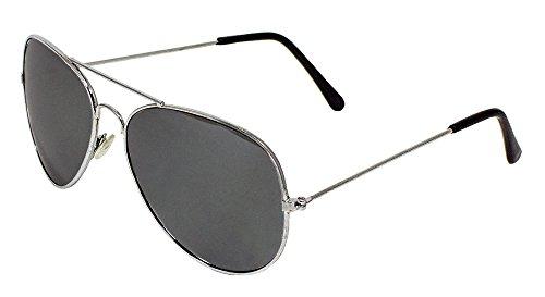 Verspiegelte Piloten Brille - Zubehör Kostüm Party Fasching