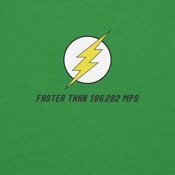 Planet Nerd - Flash Faster Than 18682 MPS - Herren T-Shirt Grün