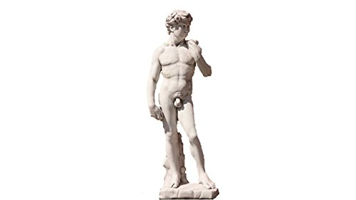 David 170 cm H, Skulptur aus Steinguss, Figur, Mann (David Skulptur)